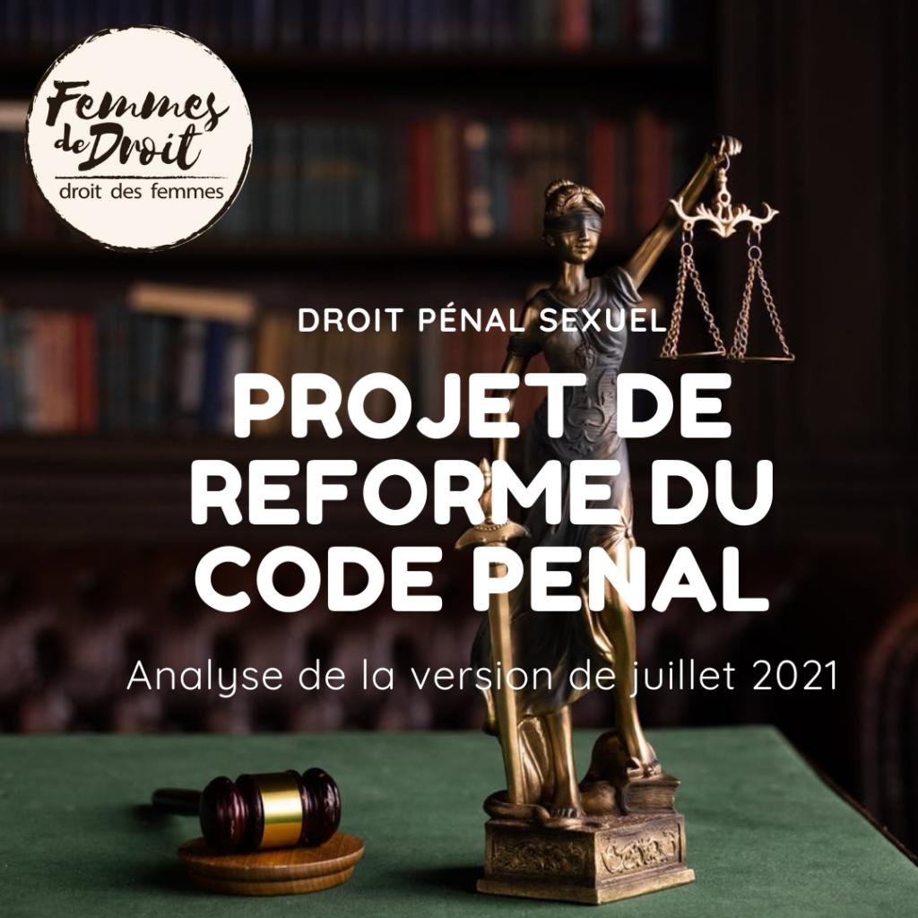 Réforme du Code pénal – Juillet 2021